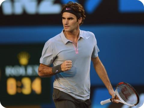 Federer v Tomic Aus Open 2013